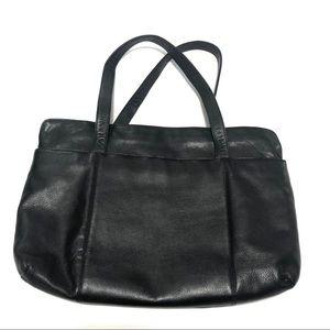 Giani Bernini Black Leather Shopper Tote Bag Purse